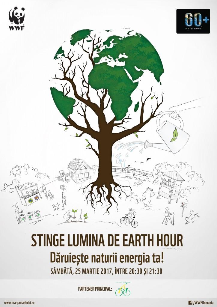 Afis Earth Hour - 2017 - WWF Romania